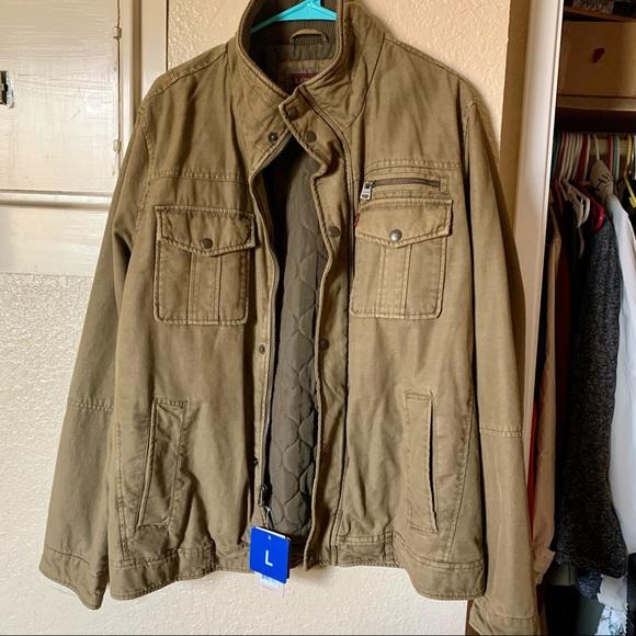 Levi's Men's Khaki Trucker Coat LARGE